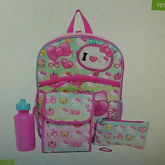b3d7f501f Sanrio Other | Hello Kitty 5 Piece Backpack Set | Poshmark